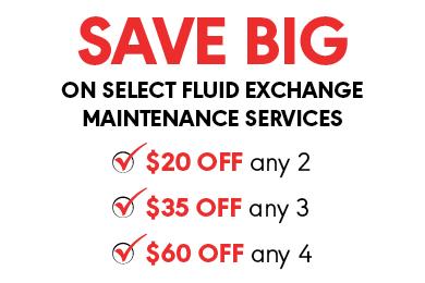 Big Savings on Fluid Exchange Maintenance Services